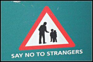 no talking to stranger